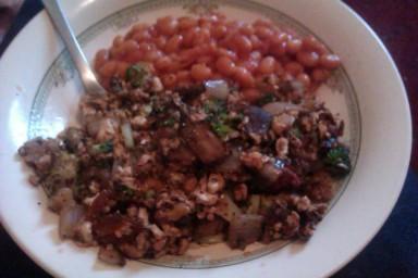 scrambled tofu (Tues)